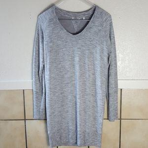 Athleta Long sleeve grey Modal blend sweater dress